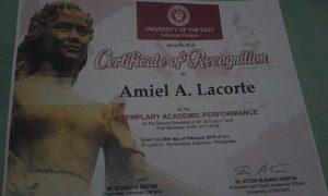 Amiel Lacorte COP Testimony